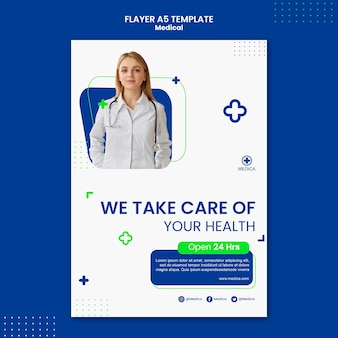 Medical concept flyer template