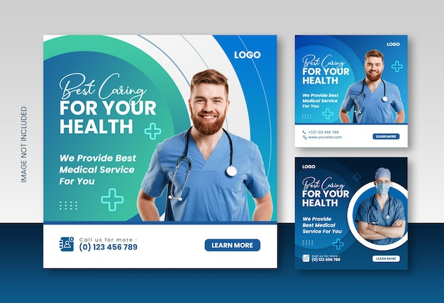 의사 및 건강 관리 컨설턴트 소셜 미디어 인스타그램 포스트 디자인