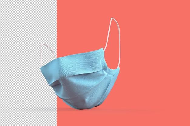 Обтравочный контур медицинской маски для лица