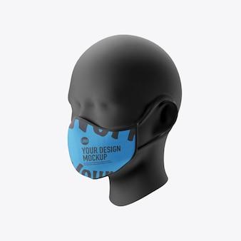 白い背景に分離された医療顔マスクモックアップ Premium Psd