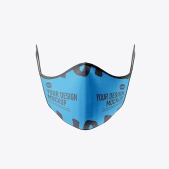 Medical face mask mockup isolated on white background