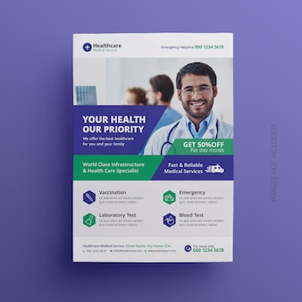 Medical flyer template design