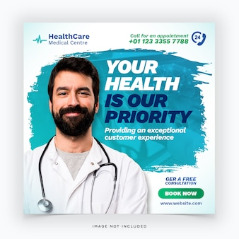 Medical health banner template