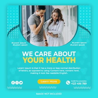 Medical and health care advertising service template