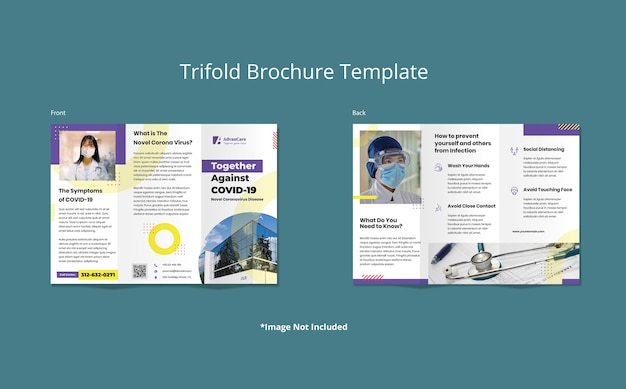 Medical health trifold brochure template