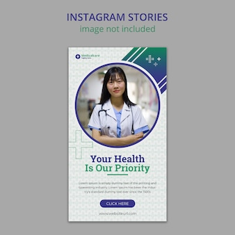 Medical and healthcare instagram stories