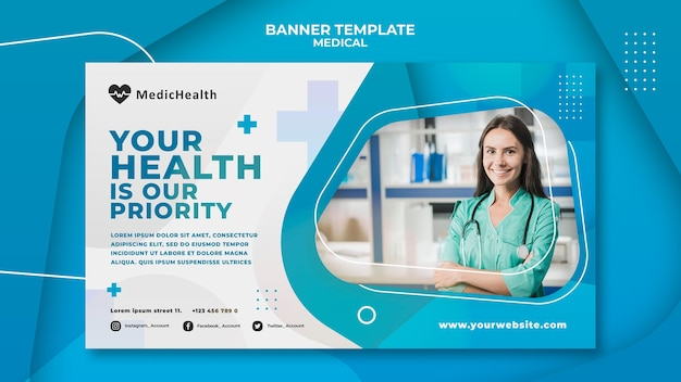 Medical healthcare poster template