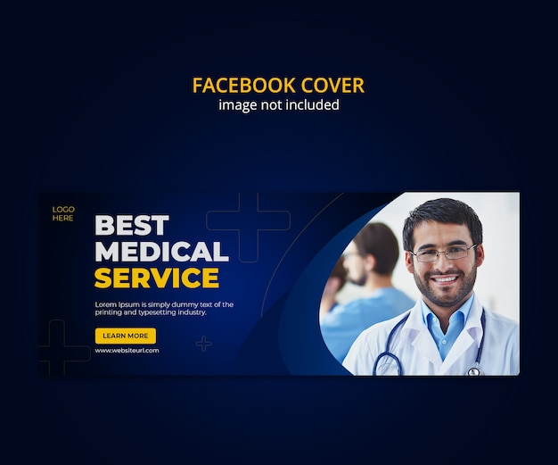 Medical and healthcare social media facebook cover template