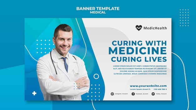 Medical horizontal banner template