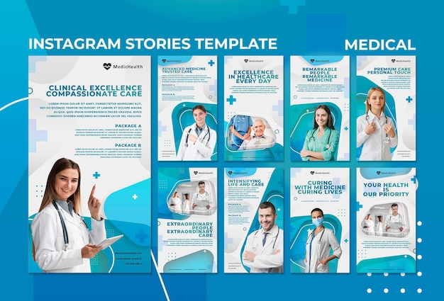Шаблон медицинских историй instagram