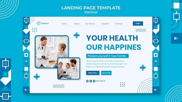 Medical landing page design template