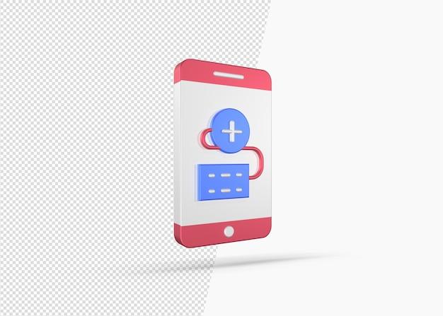 의료 온라인 지원 3d 개념