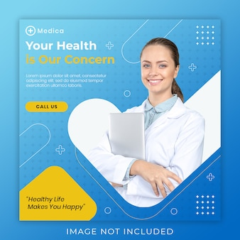 Medical post banner template