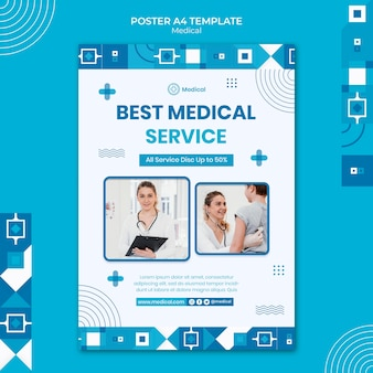 Medical poster design template