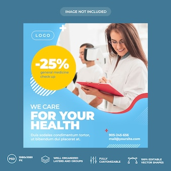 Medical social media banner template
