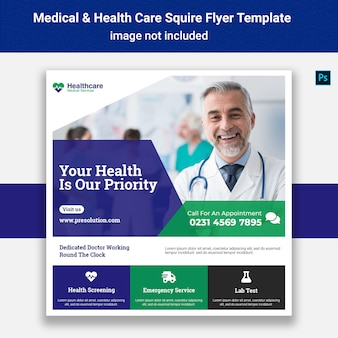 Medical squire flyer template