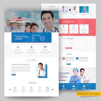 Medicare and medical service website  template