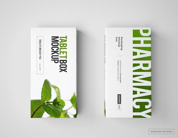 薬のブランディングとパッケージのモックアップ