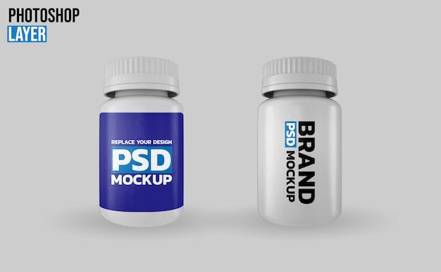 Дизайн макета бутылочки с лекарством