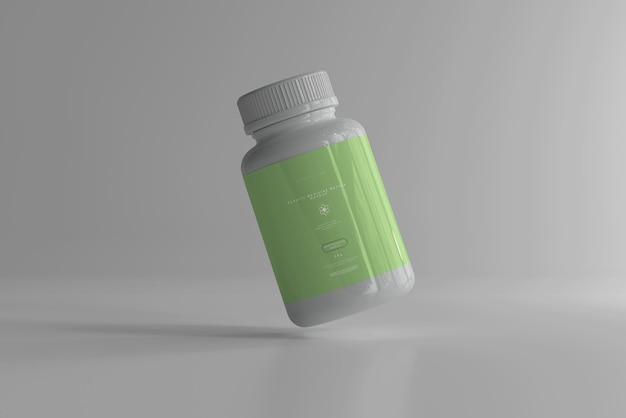 Мокап бутылки с лекарством