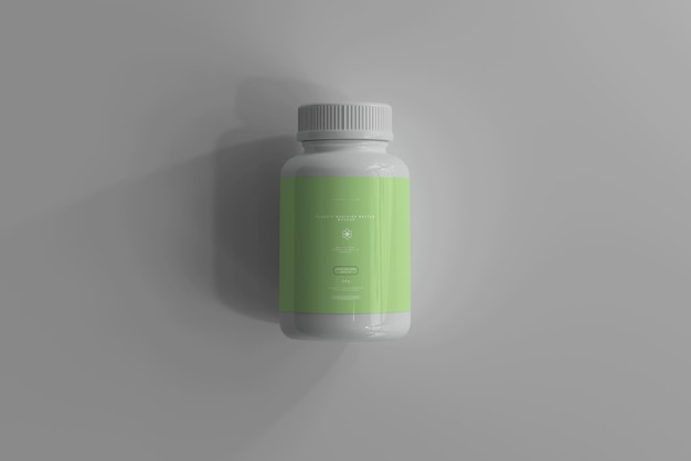 Bottiglia di medicina mockup