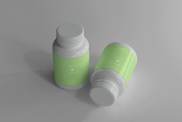 Мокап бутылок с лекарствами