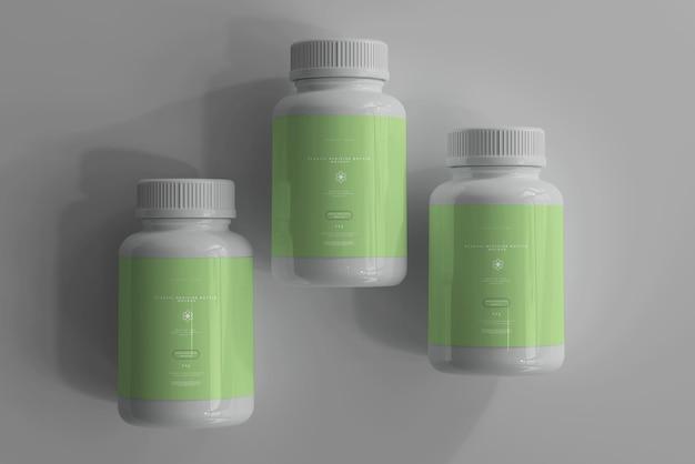 Medicine bottles mockup Free Psd