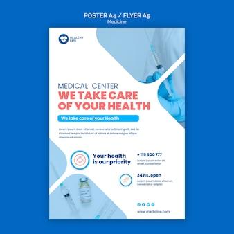 Medicine covid19 flyer template