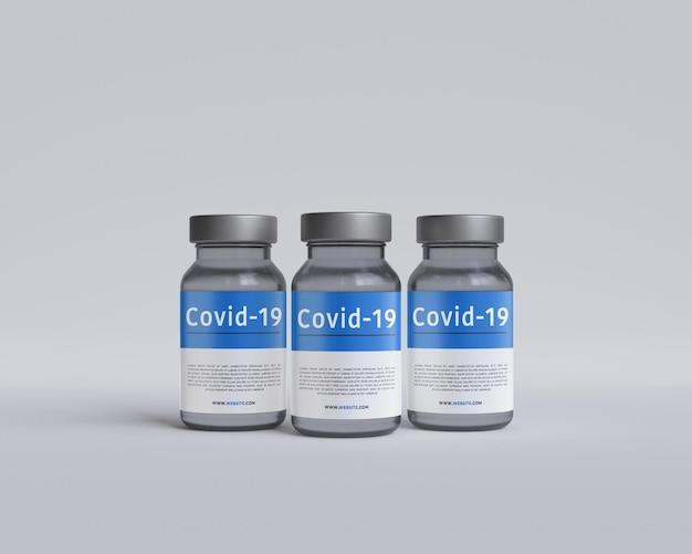 의학 건강 관리 알약 백신 병 모형