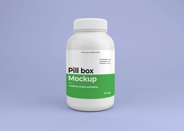 Medicine pill bottle mockup with pharmacy concept