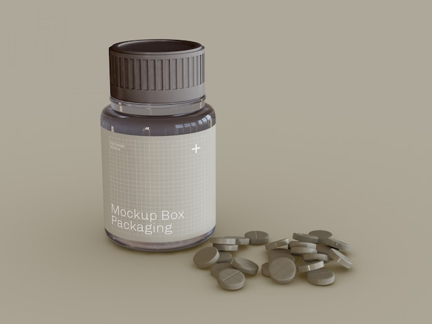 Medicine pills mock-up