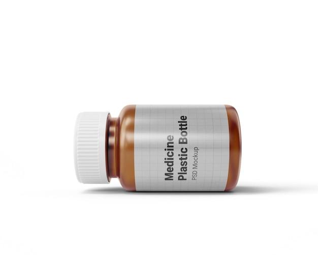 Макет пластиковой бутылки медицины Premium Psd