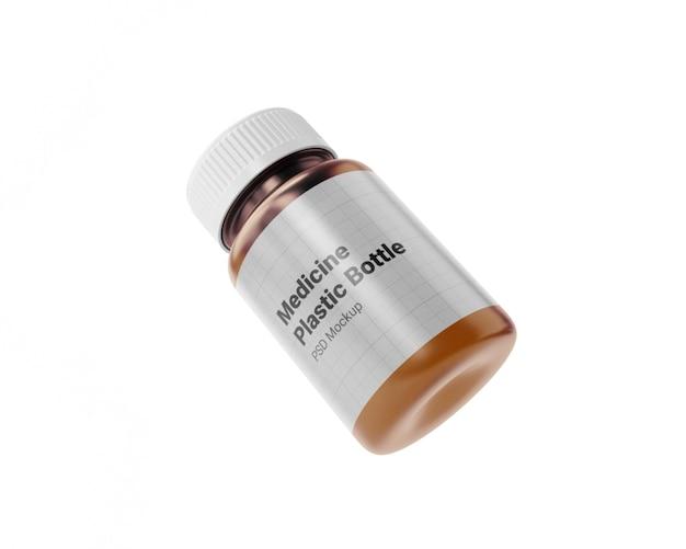 Макет пластиковой бутылки медицины