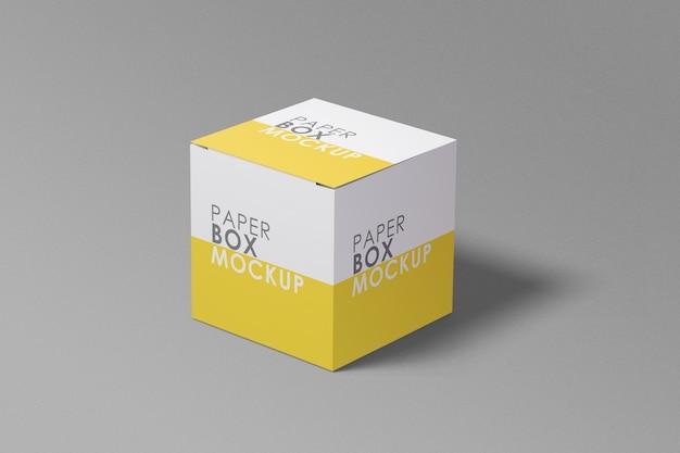 分離された薬の正方形のボックスのモックアップ