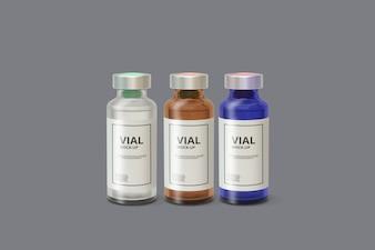Medicine Vial Mockup