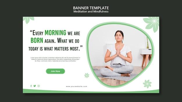 Стиль баннера медитации и внимательности