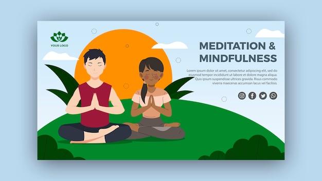 Шаблон баннера медитации и осознанности