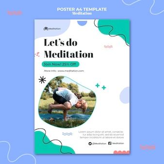 瞑想とマインドフルネスのポスターテンプレート