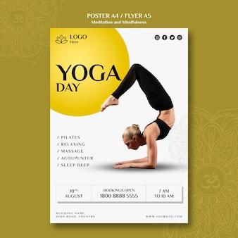 瞑想とマインドフルネスのポスターテーマ
