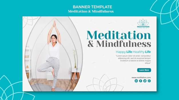 Meditation banner template