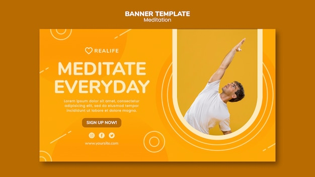 Шаблон баннера медитации