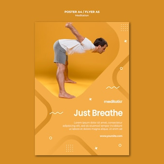 瞑想コンセプトチラシスタイル
