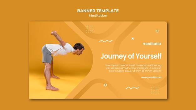 Meditation concept horizontal banner