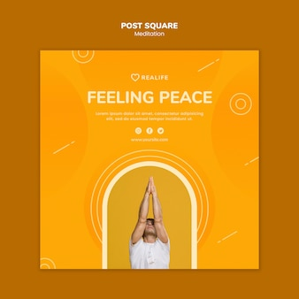 Meditation feeling peace post square