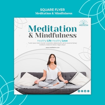 Meditation flyer template concept