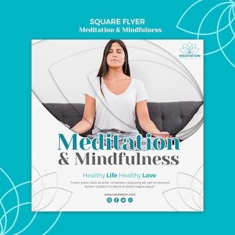 Медитация флаер шаблон темы