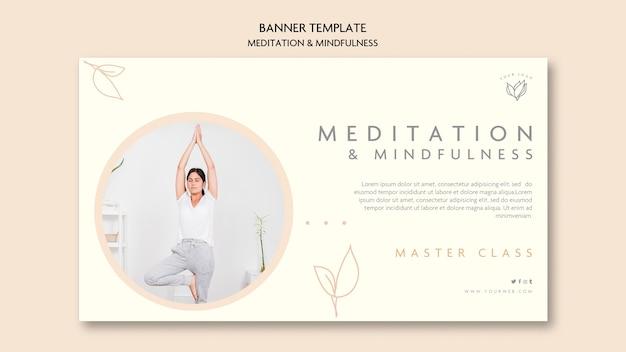 Meditation and mindfulness banner concept