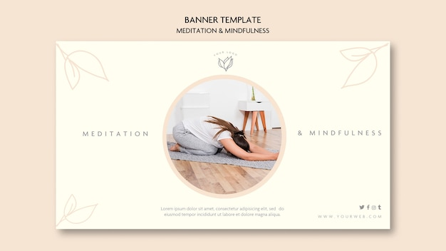 Meditation and mindfulness banner style