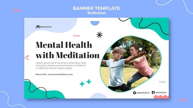 Meditationand mindfulness banner template