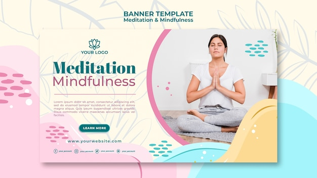 Meditation and mindfulness banner